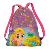 Saco mochila com alças tiras Rapunzel Disney Tangled