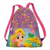 Saco mochila com alças tiras Rapunzel Disney