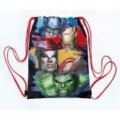 Saco Mochila com cordões 40cm Avengers -Gallery Edition