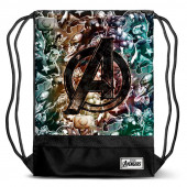 Saco mochila com cordões 48cm Avengers