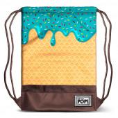 Saco mochila com cordões 48cm Oh My Pop Ice Cream