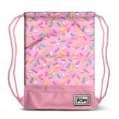 Saco mochila com cordões 48cm Oh My Pop - Sprinkles