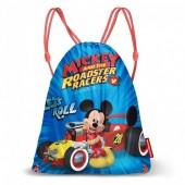 Saco Mochila com cordões de 43cm Mickey Racers - Let´s Roll