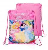Saco Mochila com cordões de 43cm Princesas Disney Pink