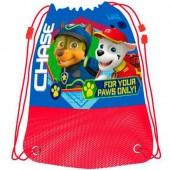 Saco mochila com cordões de Patrulha Pata