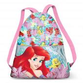 Saco mochila com cordões Princesa Ariel Coral