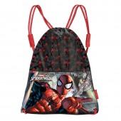 Saco Mochila de Spiderman 41cm Dark
