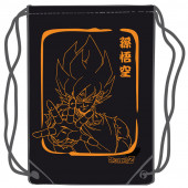 Saco Mochila Goku Dragon Ball Laranja 45cm