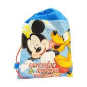 Saco mochila Mickey Mouse 35cm azul