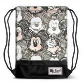 Saco mochila Premium com cordões 48cm Mickey Oh Boy