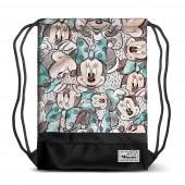 Saco mochila Premium com cordões 48cm Minnie - Drawing