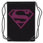 Saco Mochila Superman DC Comics Preto 45cm