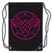 Saco Mochila Wonder Woman DC Comics Rosa 45cm