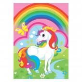 Sacos brinde festa Unicórnio Rainbow 8 unid
