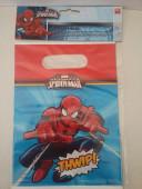 Sacos brinde Spiderman Twwip 6 unid