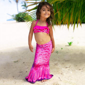 Saia Cauda Sereia + Biquini Top Malibu Pink