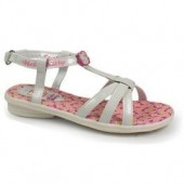 Sandalias hello kitty flowers white
