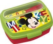 Sanduicheira Mickey com garfo e colher