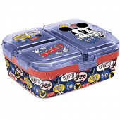 Sanduicheira Retangular Compartimentos Mickey
