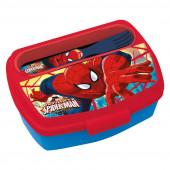 Sanduicheira Spiderman + colher e garfo