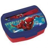Sanduicheira + Talheres Spiderman