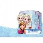 Set diário +  relógio + caneta Disney Frozen
