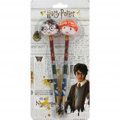 Set Lápis Borracha 3D Harry Potter