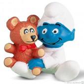 Smurf Bebé (Babysmurf) with Bear - Colecção Favoritos