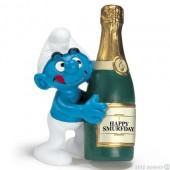 Smurf Champanhe (Bottle Smurf) - Colecção Favoritos