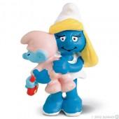 Smurfina (Smurf Smurfette) with Baby - Colecção Favoritos
