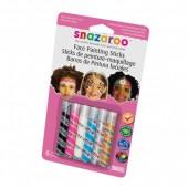 Snazaroo Barras Pintura Facial Menina Pack 6