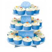 Stand 3 Andares Cupcakes Azul