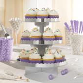 Stand 3 andares Cupcakes Prateado