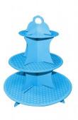 Stand Cupcakes 3 Andares Azul