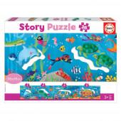 Story Puzzle 26 peças Mundo Submarino