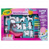 Super Set Washimals + 12 Animais Crayola