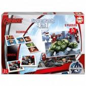 Superpack Marvel Avengers 4 em 1 Educa