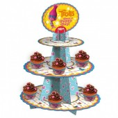 Suporte Cupcakes Trolls 3 Pisos