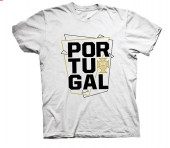 T-Shirt Adulto Portugal Branca