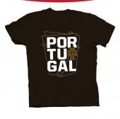 T-Shirt Adulto Portugal Preta