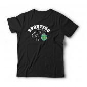 T-Shirt Adulto Sporting Leão Preta
