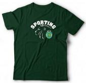 T-Shirt Adulto Sporting Leão Verde