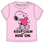 T-Shirt Bebé Snoopy Rosa