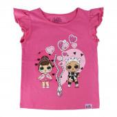 T-Shirt LOL Surprise Coração Rosa Fúscia
