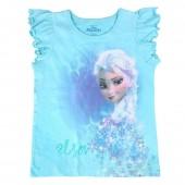 T-shirt mangas volantes Elsa Frozen Disney