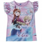 T-shirt mangas volantes Frozen Disney - Elsa e Anna