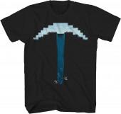 T-Shirt Minecraft Blue Pick-Ace