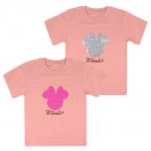 T-shirt Minnie Lantejoulas Rosa