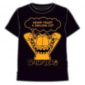 T-Shirt Preta Garfield