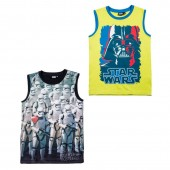 T-shirt s/ mangas Star Wars Stormtroopers Darth Vader sortido